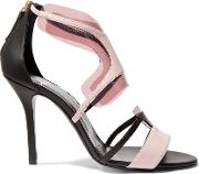 Pierre Hardy , Pvc Trimmed Leather Sandals Black