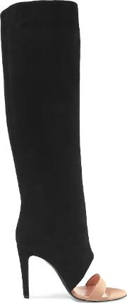 Jerome Dreyfuss , Ella Suede And Leather Knee Boots Black