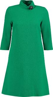 Goat , Wool Crepe Mini Dress Green