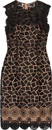 Mikael Aghal , Guipure Lace Dress Black