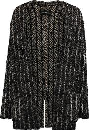 By Malene Birger , Reversible Intarsia Knit Cardigan Black