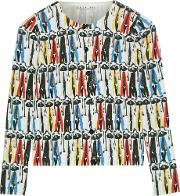Alice  Olivia , Alice Olivia Stacey Montage Printed Cotton Cardigan Multi