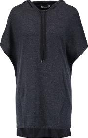 Autumn Cashmere , Cashmere Hooded Poncho Navy