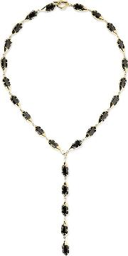 Noir Jewelry , Harlequin Gold Plated Crystal Necklace One Size