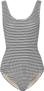 Tart Collections , Masie Striped Swimsuit White