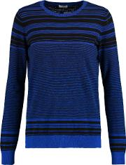 Vince , Striped Cotton Sweater Blue