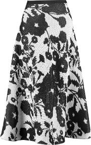 Vionnet , Intarsia Cotton Midi Skirt White