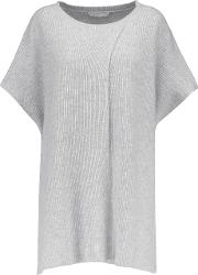 Duffy , Cashmere Poncho Light Gray