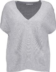 Duffy , Ribbed Cashmere Sweater Light Gray