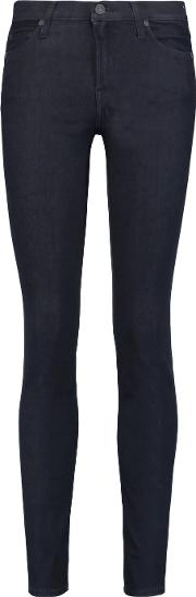 7 For All Mankind , The Skinny Low Rise Skinny Jeans Dark Denim