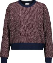 Tanya Taylor , Palm Metallic Knitted Sweater Bronze