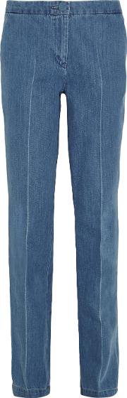 Topshop Unique , Whitcomb High Rise Straight Leg Jeans Mid Denim