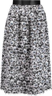 Mother Of Pearl , Harriet Fringed Voile Skirt Navy