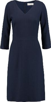 Goat , Artemis Wool Crepe Dress Midnight Blue