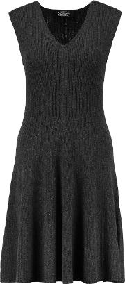 Magaschoni , Ribbed Cashmere Mini Dress Gray