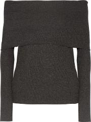W118 By Walter Baker , Lydia Off The Shoulder Ribbed Knit Top Gray