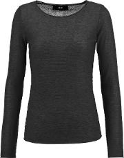 Line , Barton Modal And Cashmere Blend Sweater Charcoal