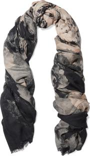 Lily And Lionel , Skyler Printed Modal And Cashmere Blend Scarf Black