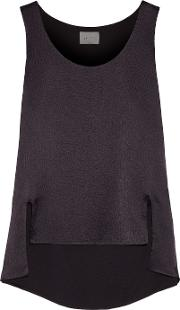 Maiyet , Asymmetric Textured Silk Top Dark Purple