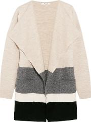 Madewell , Meridian Striped Boiled Wool Cardigan Beige