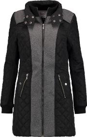 Tart Collections , Corey Felt And Quilted Shell Coat Black