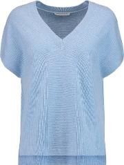 Duffy , Ribbed Cashmere Sweater Light Blue