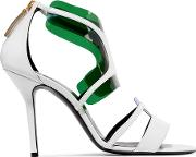 Pierre Hardy , Pvc Trimmed Leather Sandals White