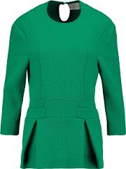 Preen By Thornton Bregazzi , Audrey Stretch Ponte Peplum Top Emerald