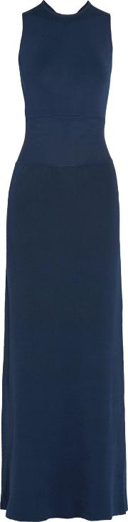 Iris And Ink , Cutout Stretch Knit Maxi Dress Navy