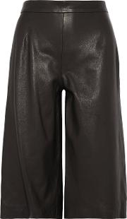 Iris And Ink , Leather Culottes Black