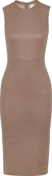 Iris And Ink , Stretch Leather Dress Taupe