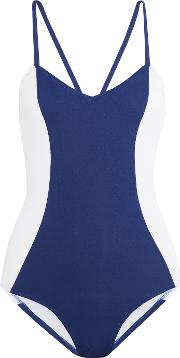 Iris And Ink , Color Block Swimsuit Blue