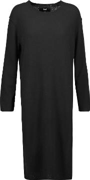 Line , Knox Merino Wool And Cashmere Blend Sweater Black