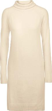 Line , Lawrence Merino Wool And Cashmere Blend Dress Cream