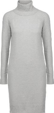 Line , Lawrence Merino Wool And Cashmere Blend Dress Gray