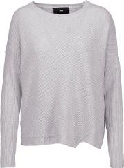 Line , Spencer Ribbed Cashmere Sweater Light Gray