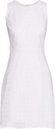Milly , Broderie Anglaise Cotton Mini Dress White