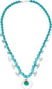 Chan Luu , Beaded Stone And Silver Tone Necklace Turquoise