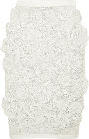 Sibling , Crocheted Pencil Skirt Off White