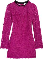 Topshop Unique , Tybalt Corded Lace Mini Dress Bright Pink