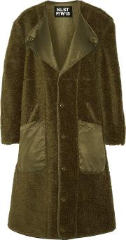 Nlst , Wool Coat Army Green