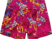 Matthew Williamson , Printed Washed Silk Shorts Bright Pink
