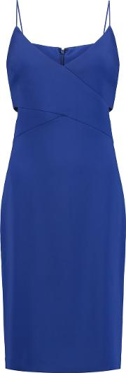 Badgley Mischka , Odessa Cutout Crepe Dress Royal Blue