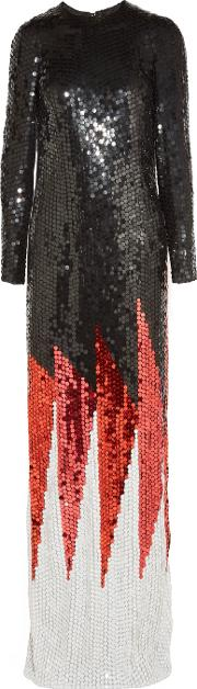 Tom Ford , Sequined Silk Gown Black