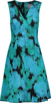 Lela Rose , Fil Coupe Dress Turquoise