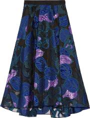 Lela Rose , Fil Coupe Skirt Blue