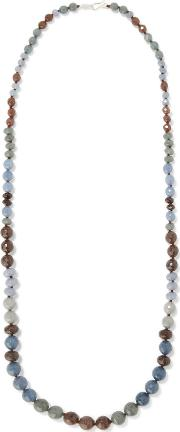 Chan Luu , Beaded Cord Necklace Blue