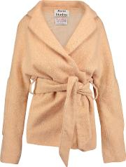 Acne Studios , Briella Belted Brushed Wool Tweed Jacket Pastel Orange