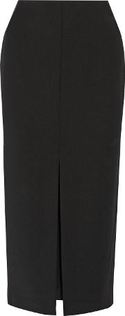 Adam Lippes , Stretch Wool Blend Crepe Skirt Black