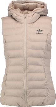 Adidas Originals , Quilted Shell Hooded Vest Beige